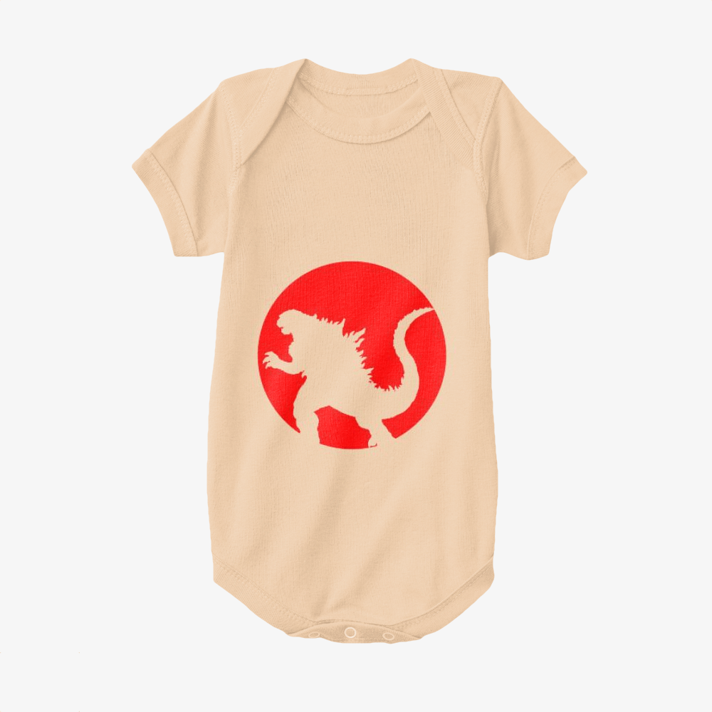 Monster And Japan Flag, Godzilla Baby Onesie