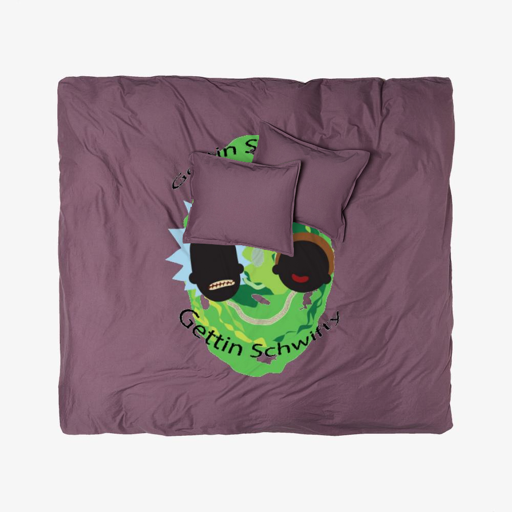 Shwifty, Rick And Morty Duvet Cover Set