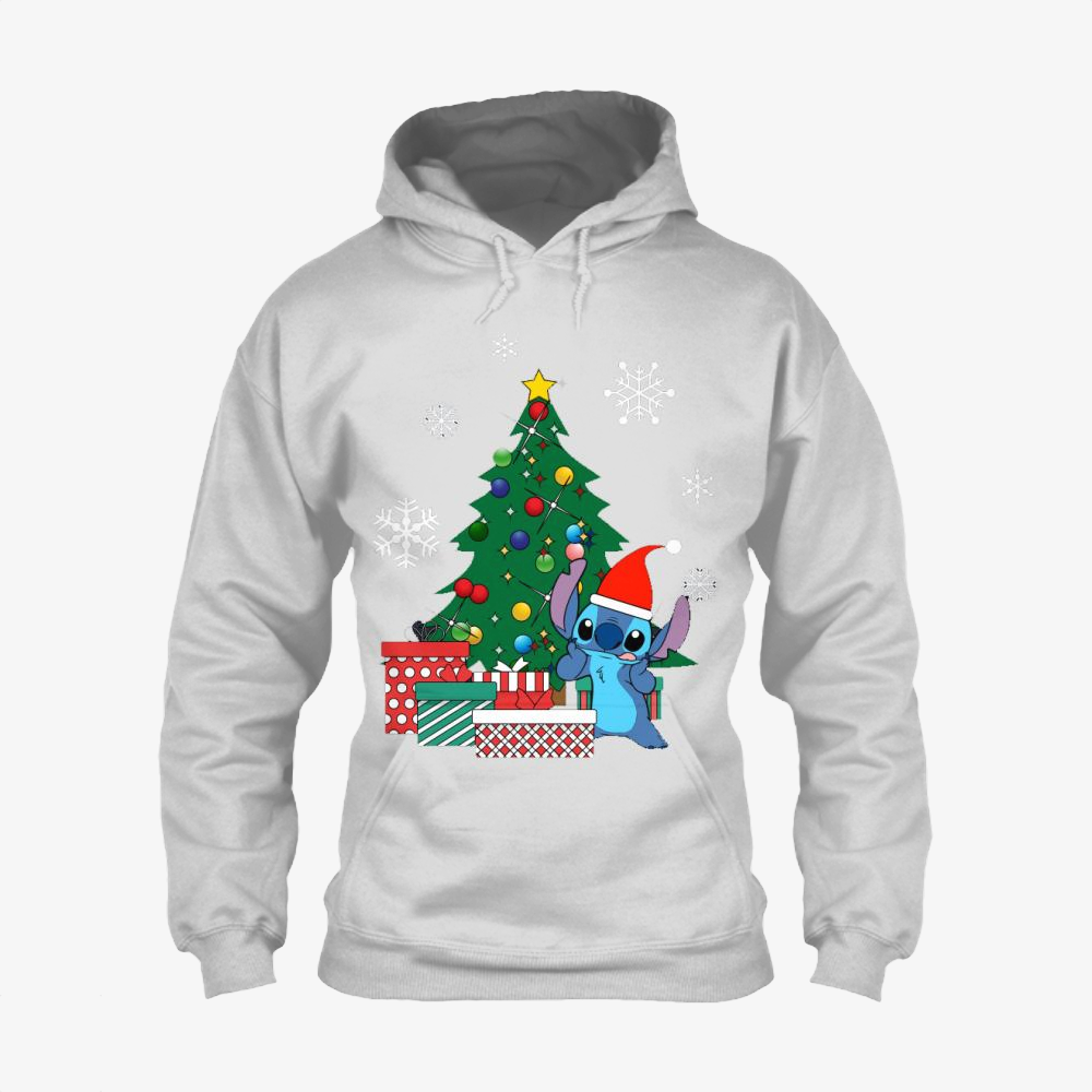 Stitch Christmas Tree Lilo And Stitch, Stitch Classic Hoodie