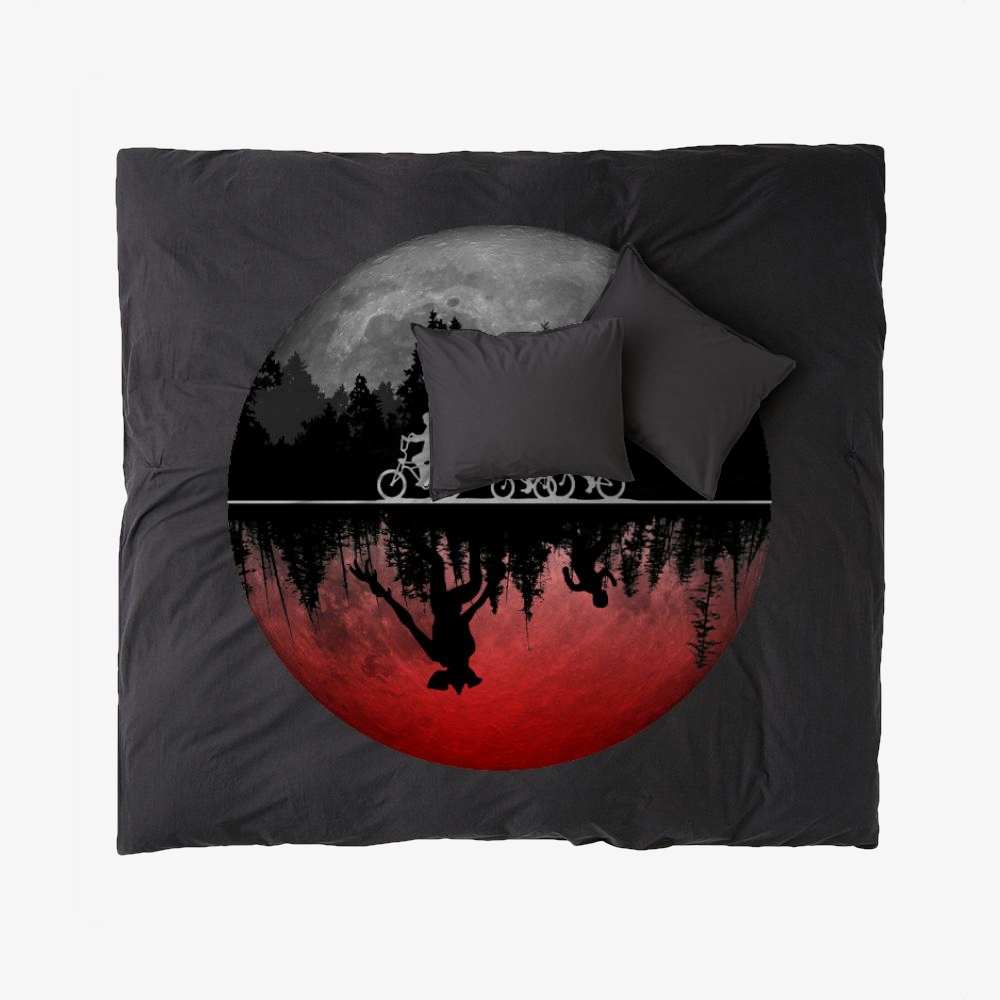 Stranger Things Illustrated Graphic, Horror Film Duvet Cover Set