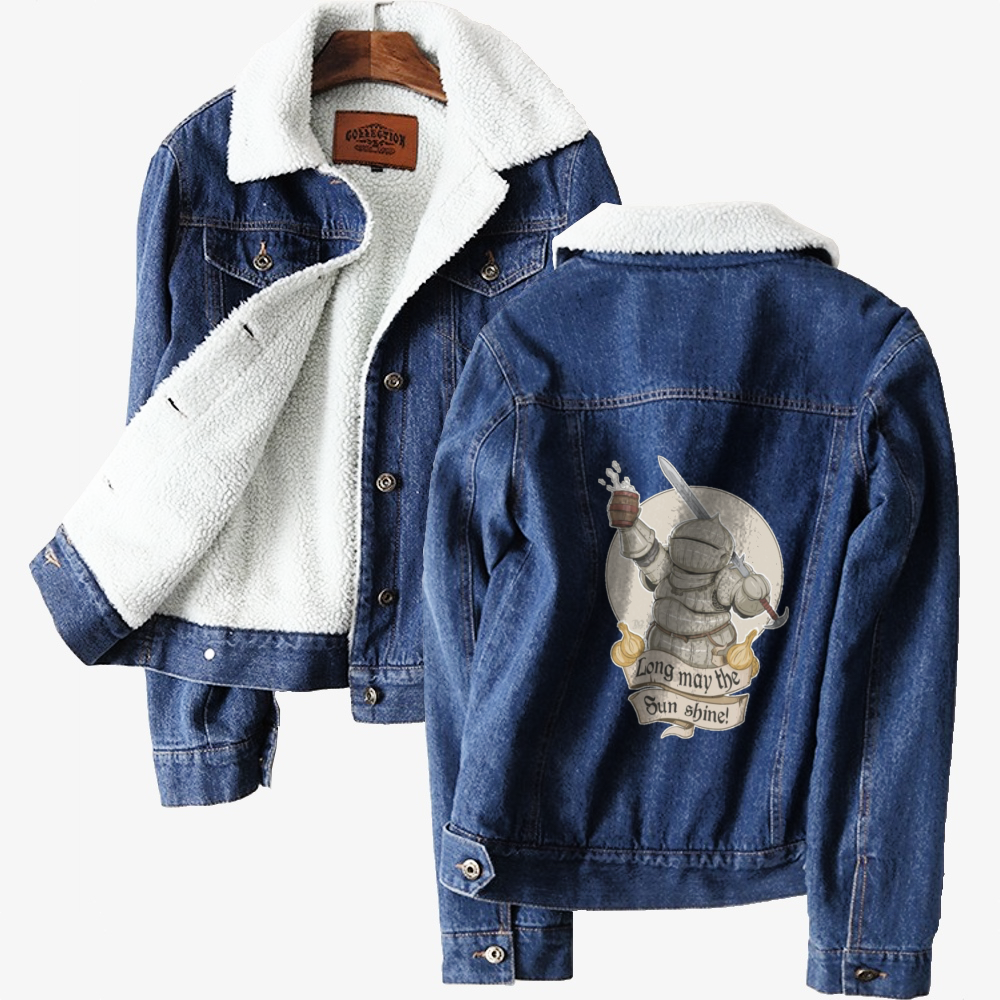Long May The Sun Shine, Dark Souls Classic Lined Denim Jacket