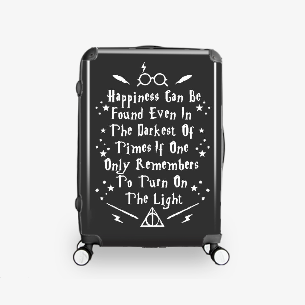 Happiness Can Be Found Even In The Darkest, Harry Potter Hardside Luggage