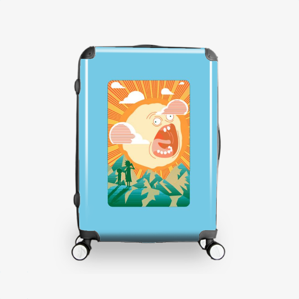 Rick And Morty Early Risin, Rick And Morty Hardside Luggage