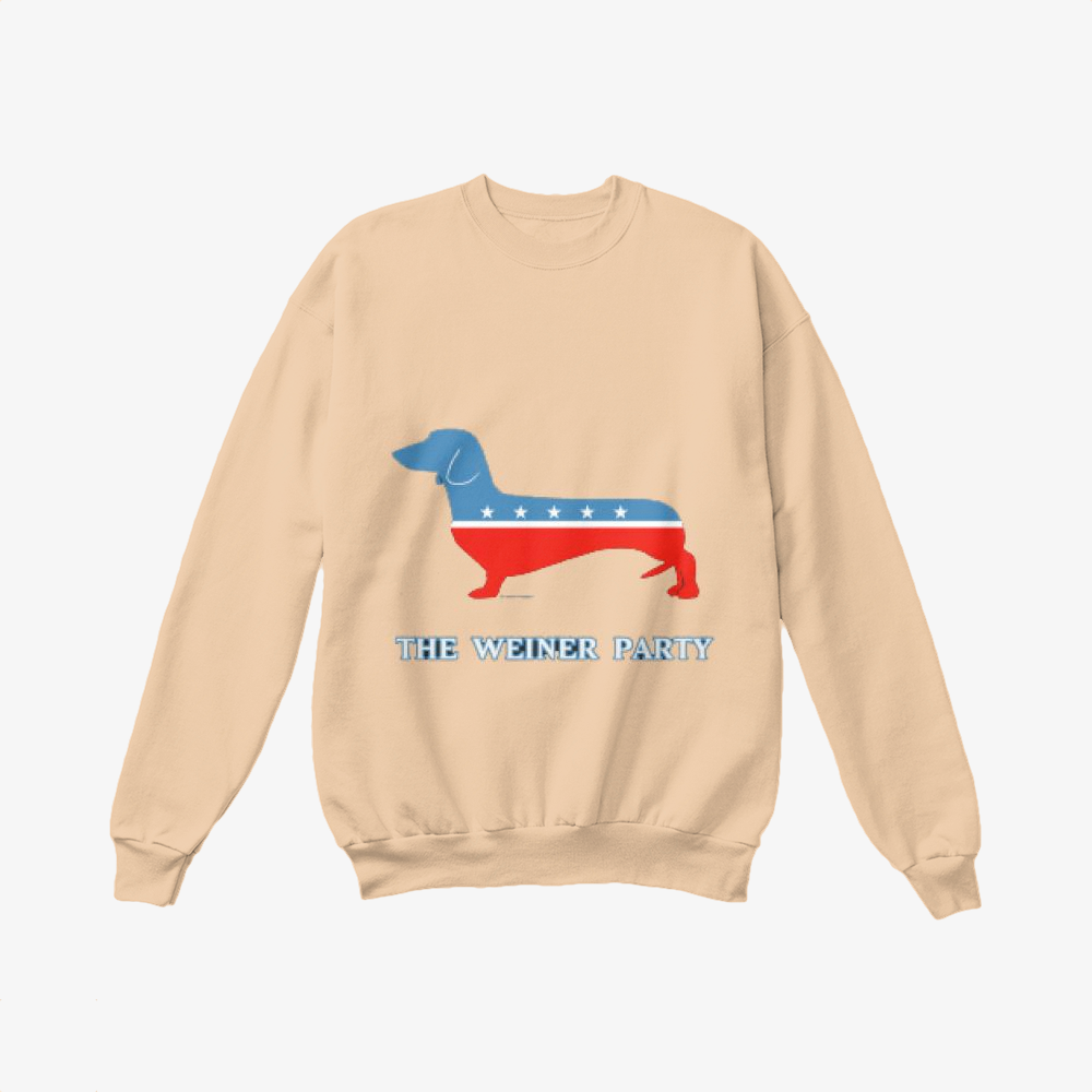The Weiner Party, Dachshund Crewneck Sweatshirt