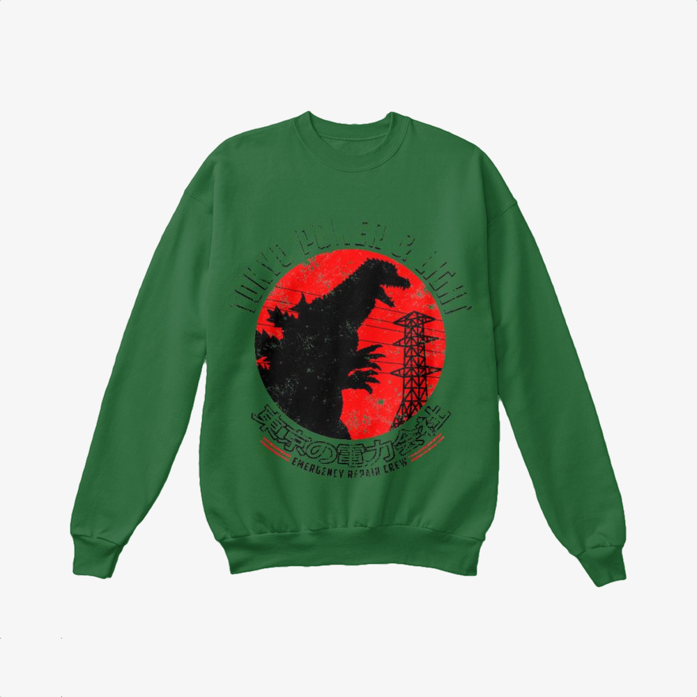 Tokyo Power And Light, Godzilla Crewneck Sweatshirt