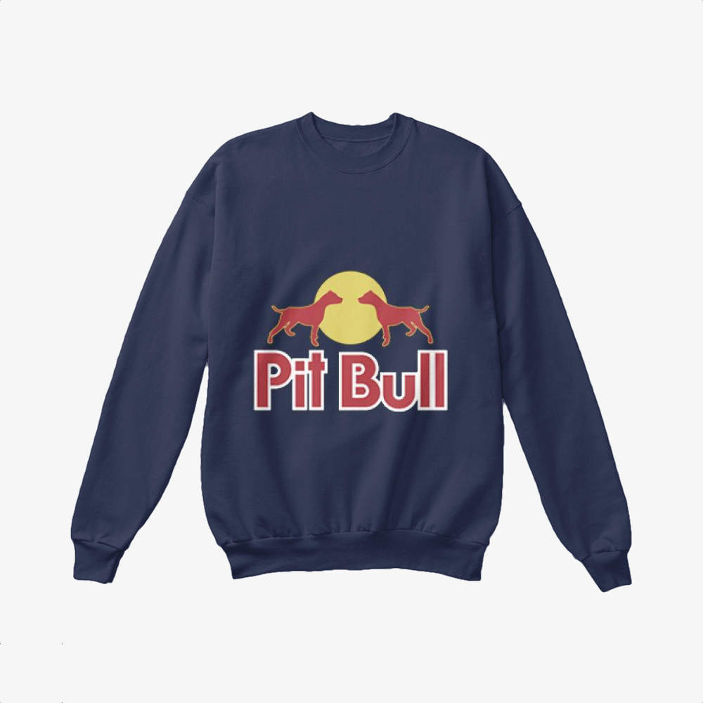 The Pitbull Two Red Pit Bull, Pitbull Crewneck Sweatshirt