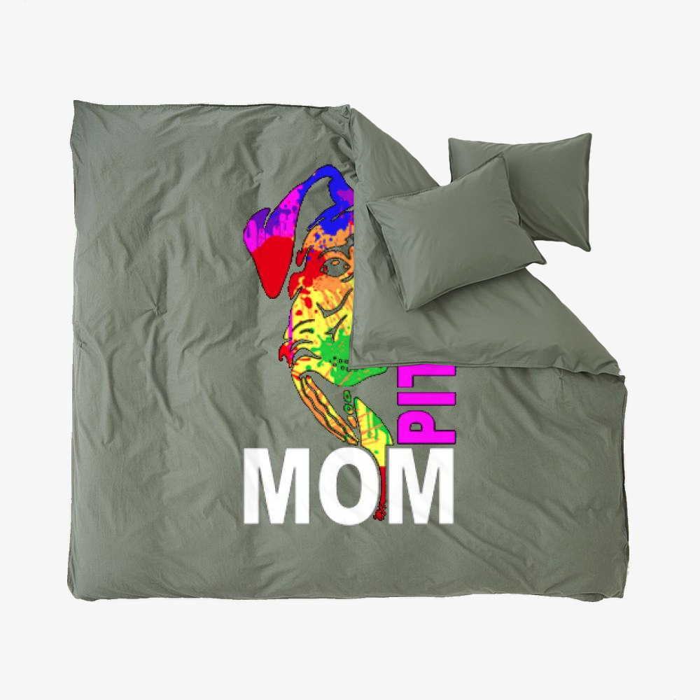 The Pitbull Rainbow Pit Bull Mom, Pitbull Duvet Cover Set