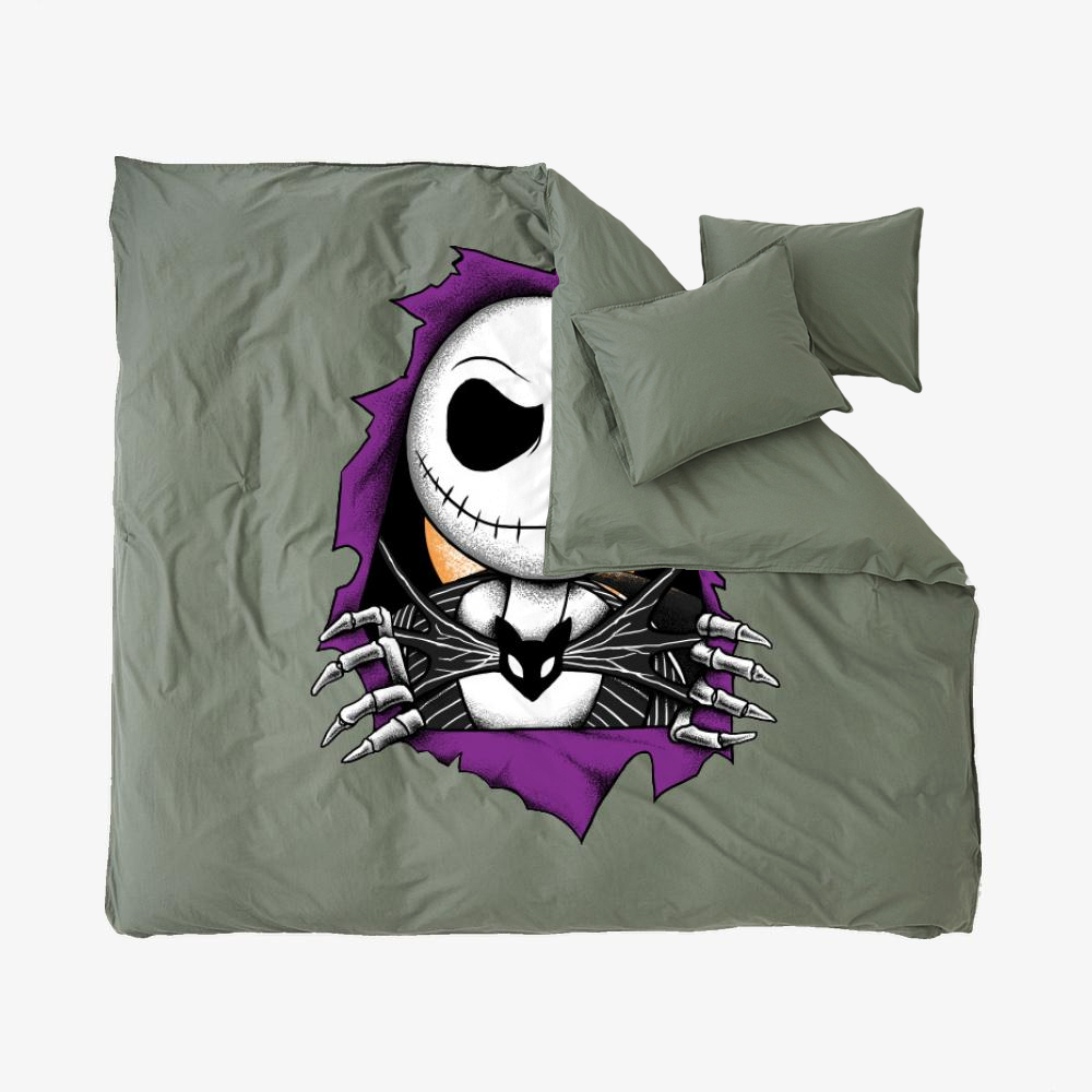 Bones Before Christmas, Jack Skellington Duvet Cover Set
