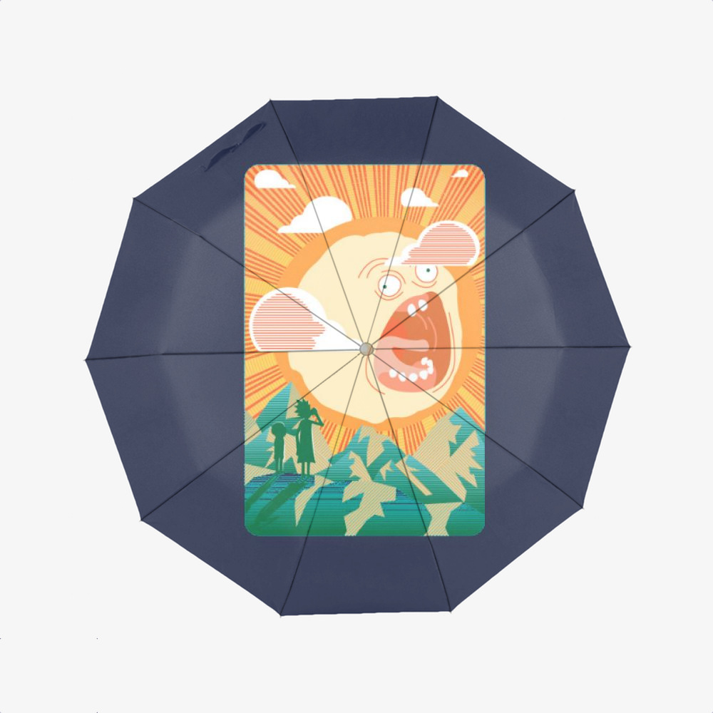 Rick And Morty Early Risin, Rick And Morty Classic Umbrella