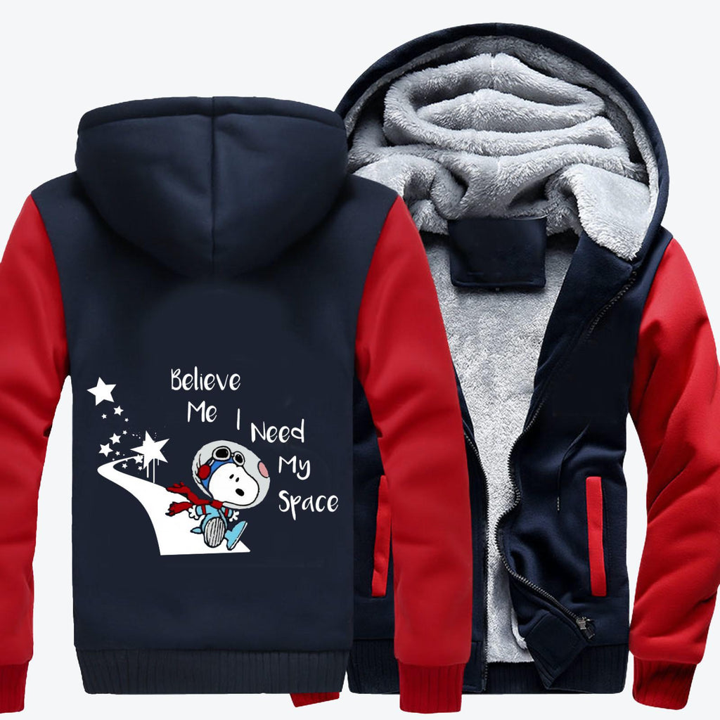 Snoopy Peanuts I Need My Space, Snoopy Fleece Jacket