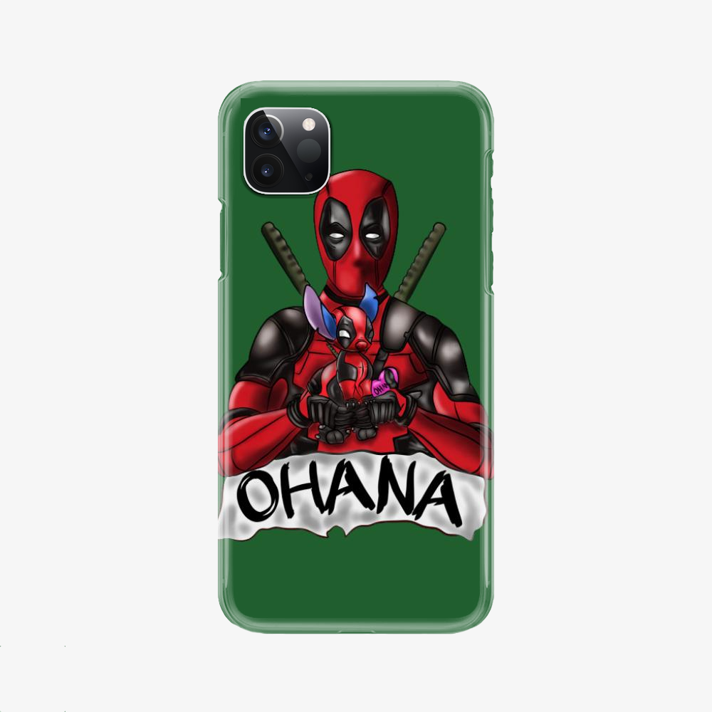 Ohana Deadpool And Stitch, Stitch Phone Case