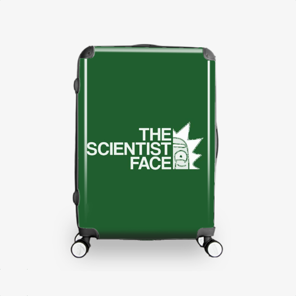 The Scientist Face, Rick And Morty Hardside Luggage