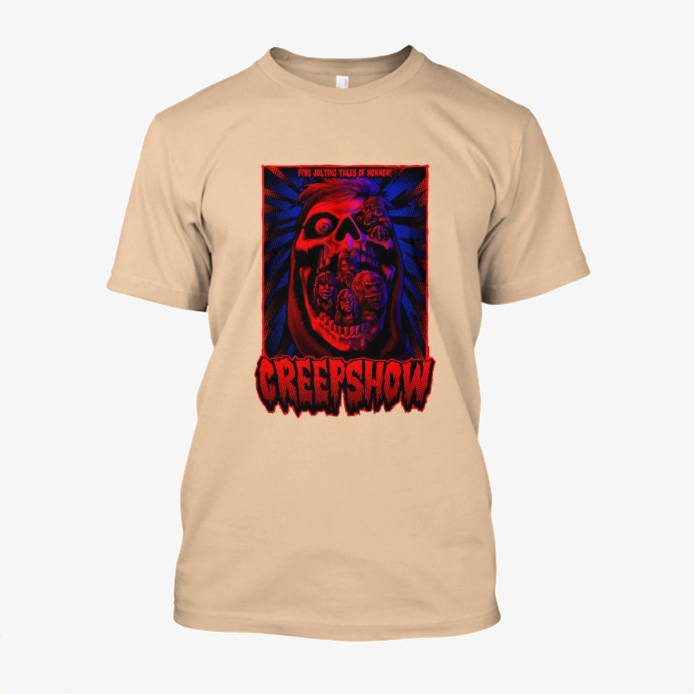 Creepskull, Horror Film Cotton T-Shirt