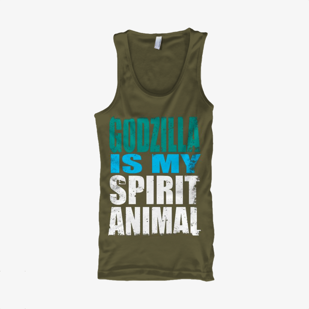 Godzilla Is My Spirit Animal, Godzilla Classic Tank Top