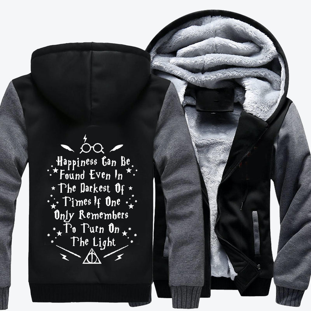 Happiness Can Be Found Even In The Darkest, Harry Potter Fleece Jacket