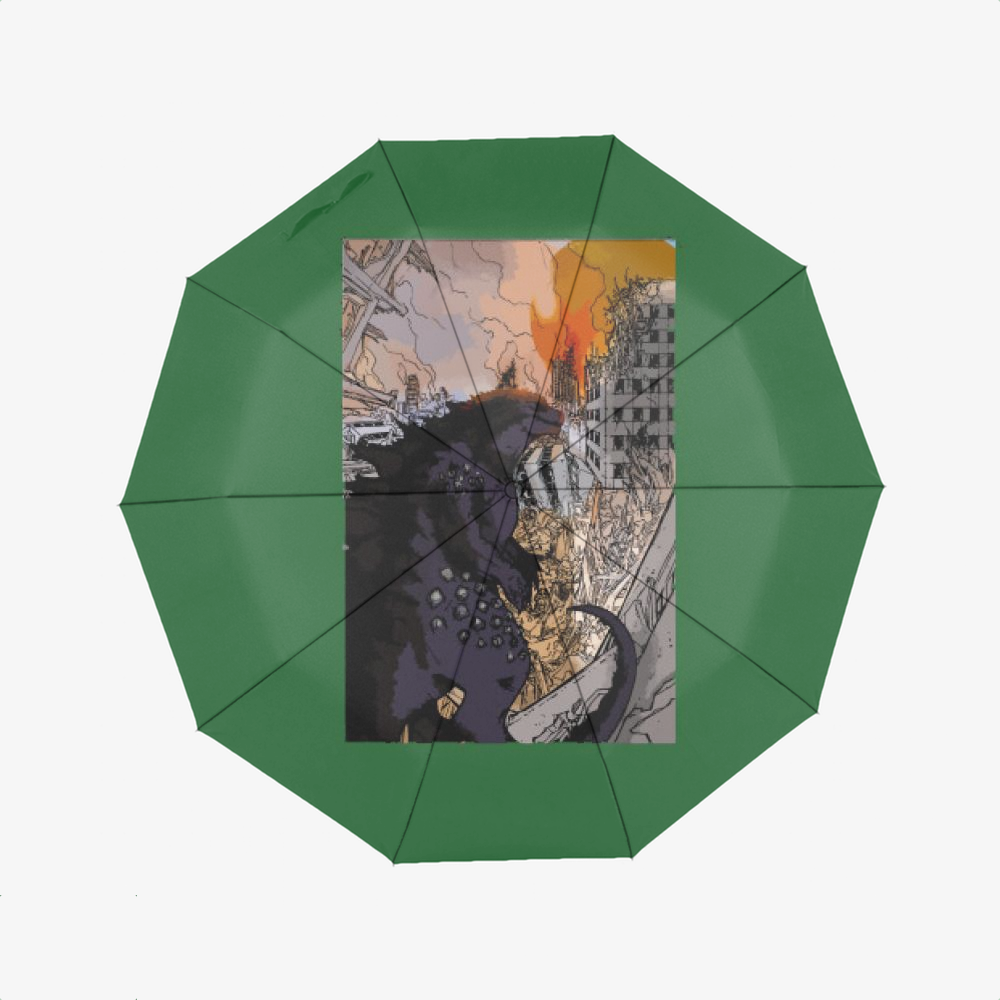 Destroying Your City In The Sunset, Godzilla Classic Umbrella