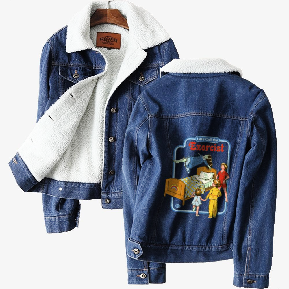 Call The Exorcist, Horror Film Classic Lined Denim Jacket