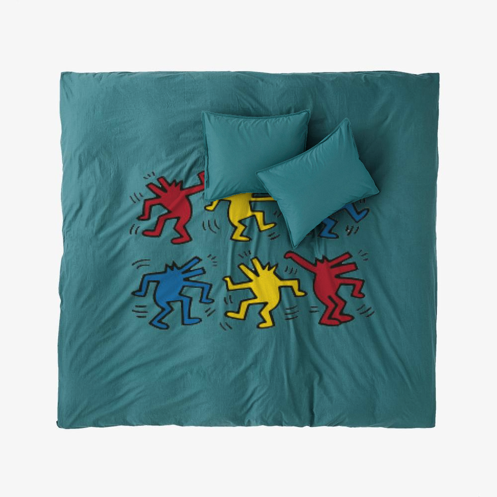 Dogs Dacing, Keith Haring Duvet Cover Set