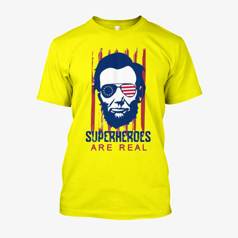 The Real Superhero, Abraham Lincoln Cotton T-Shirt