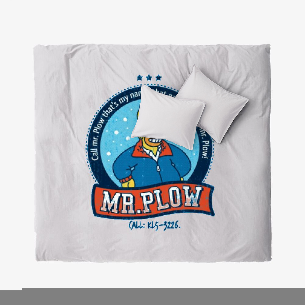 Call Mr Plow, The Simpsons Duvet Cover Set