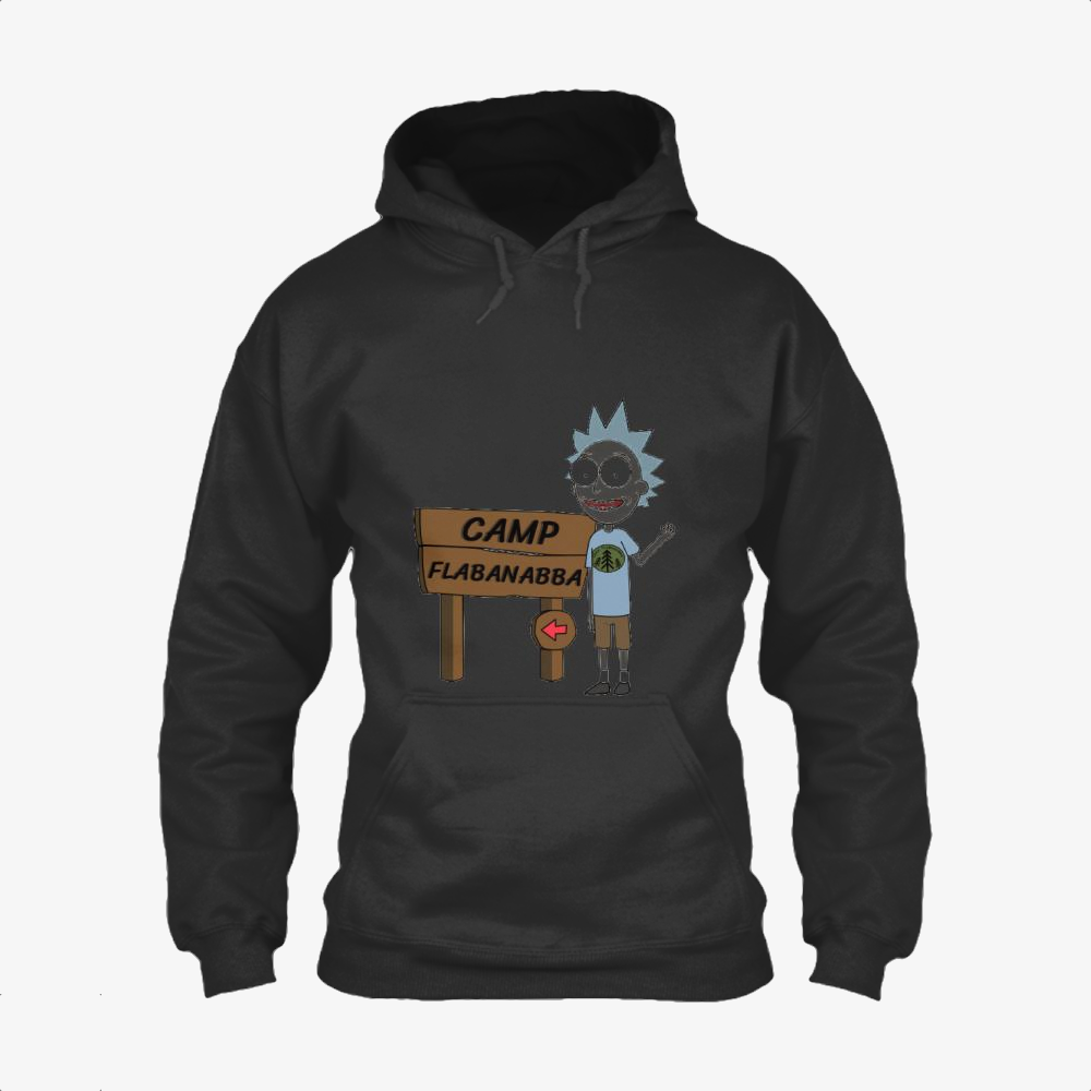 Rick Sanchez At Camp Flabanabba, Rick And Morty Classic Hoodie