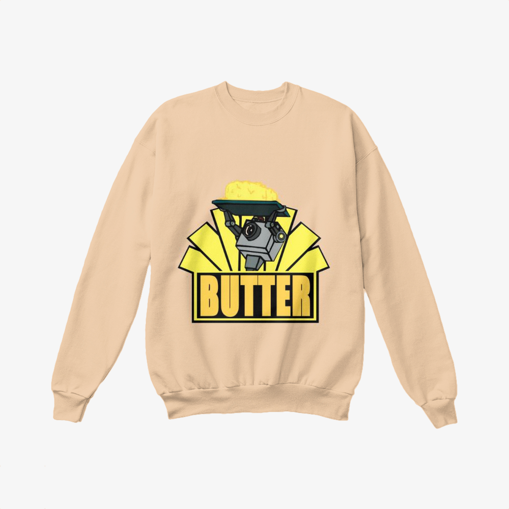The Butter Robot, Rick And Morty Crewneck Sweatshirt