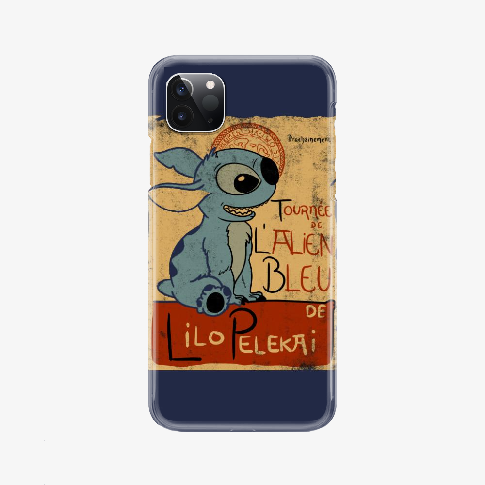 Tournee De Lalien Bleu, Stitch Phone Case