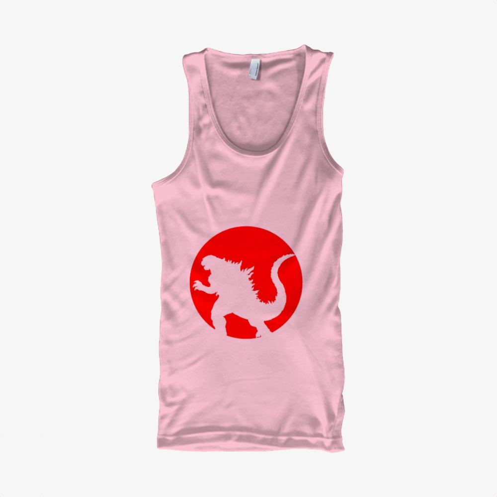 Monster And Japan Flag, Godzilla Classic Tank Top