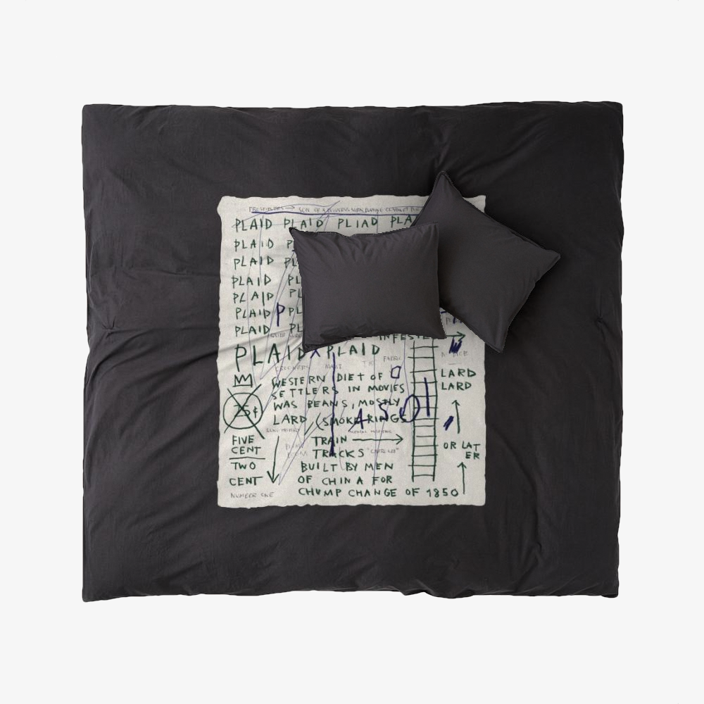 Basquiat Plaid, Jean-michel Basquiat Duvet Cover Set