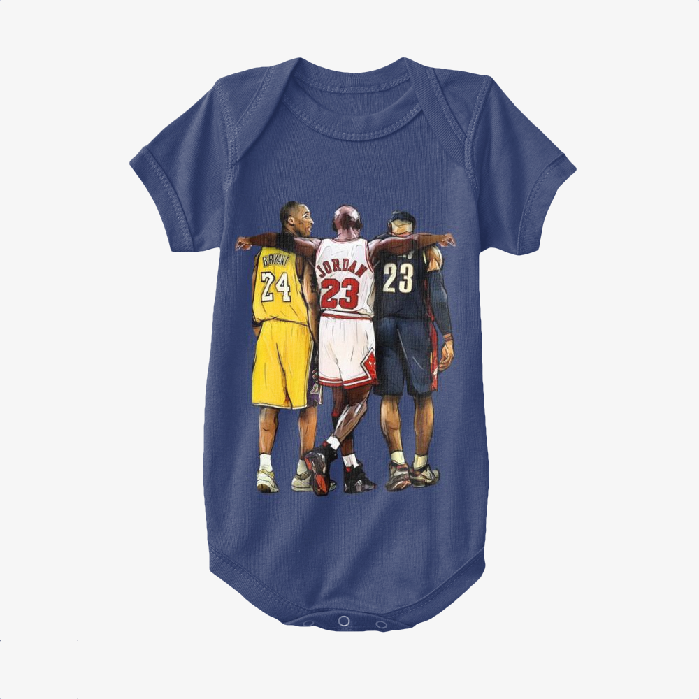 Kobe Michael Lebron James, National Basketball Association Baby Onesie