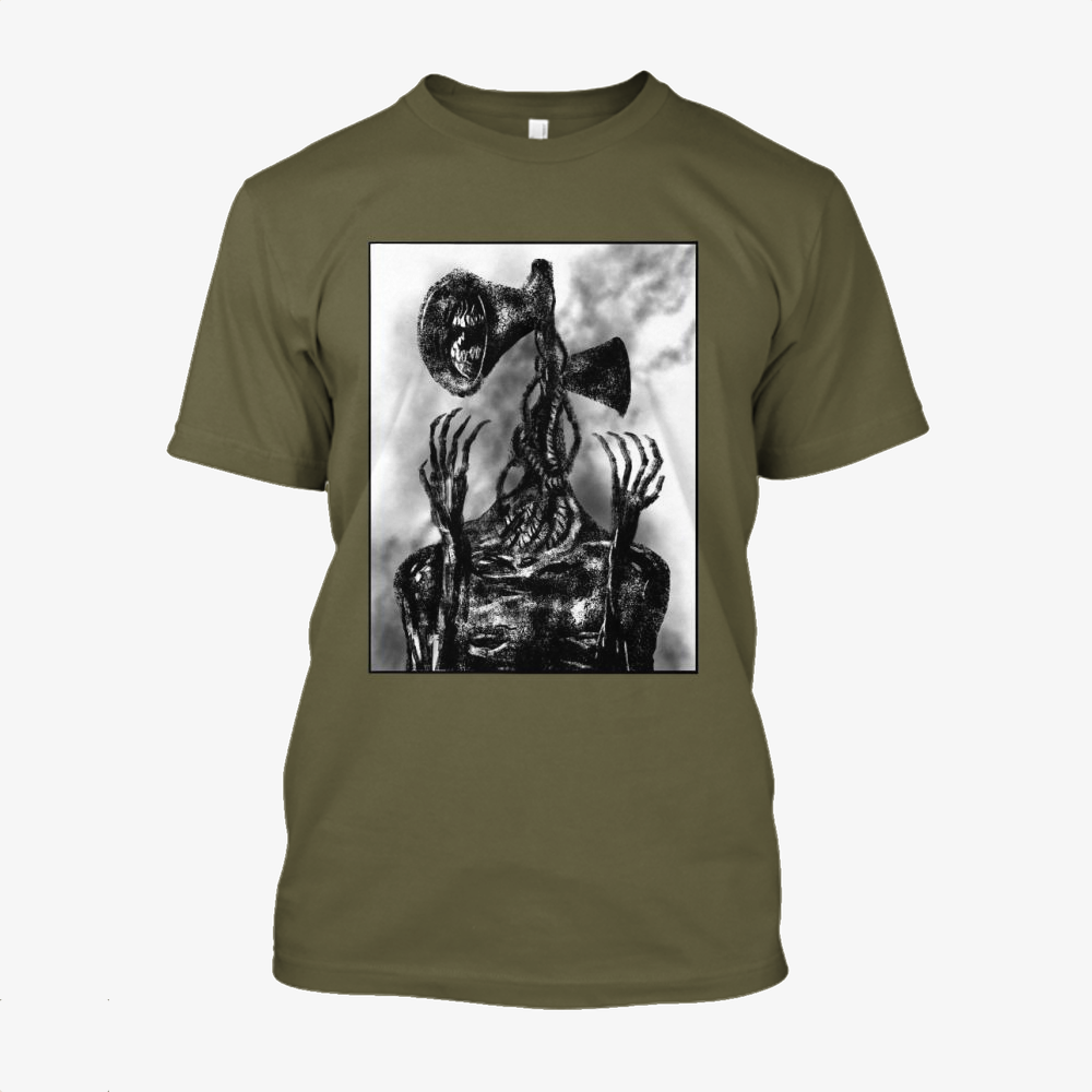 Sirenhead, Horror Film Cotton T-Shirt