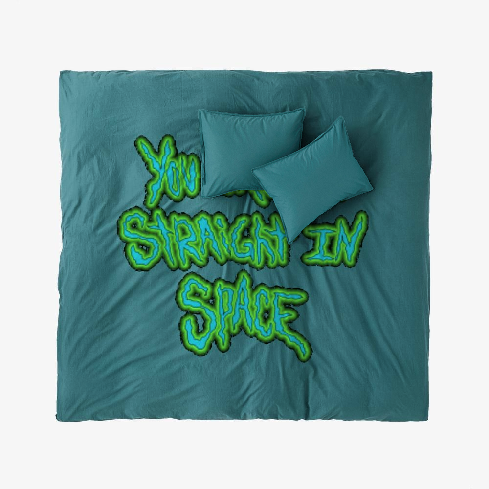 You Cant Be Straight In Space, Rick And Morty Duvet Cover Set