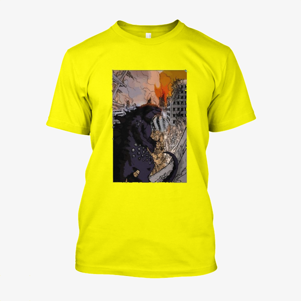 Destroying Your City In The Sunset, Godzilla Cotton T-Shirt