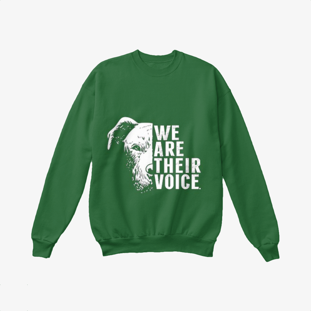 The Pitbull We Are Their Voice, Pitbull Crewneck Sweatshirt