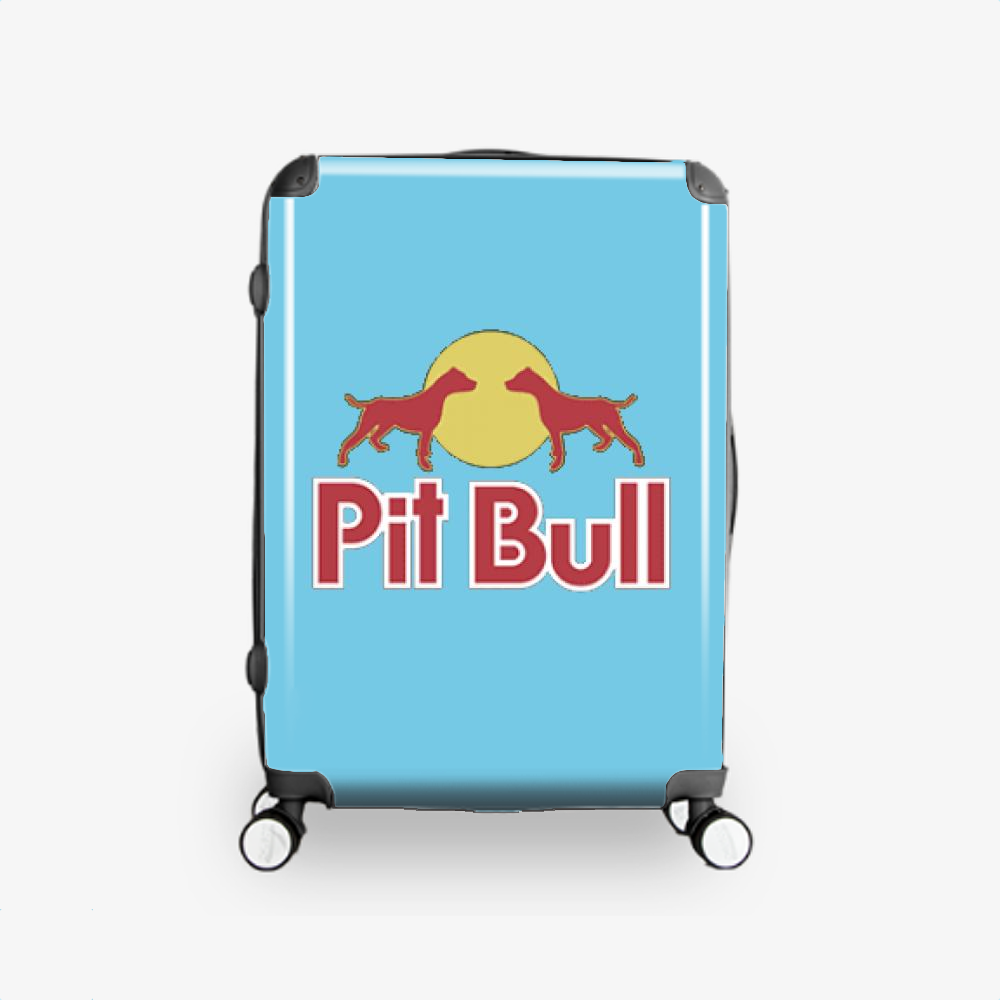 The Pitbull Two Red Pit Bull, Pitbull Hardside Luggage