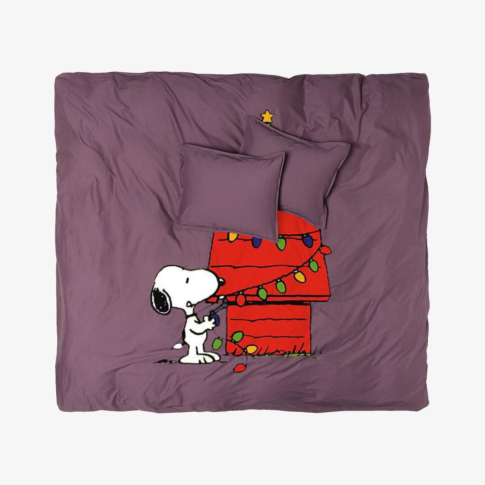 Christmas Snoopy Lights, Snoopy Duvet Cover Set