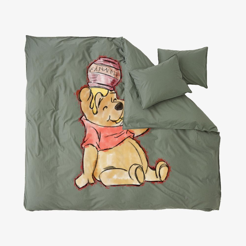 Pooh Bear Watercolor, Winnie-the-pooh Duvet Cover Set