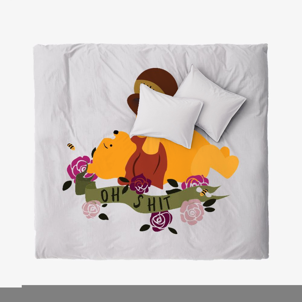 Oh Shit Poohs Out Of Hunny, Winnie-the-pooh Duvet Cover Set