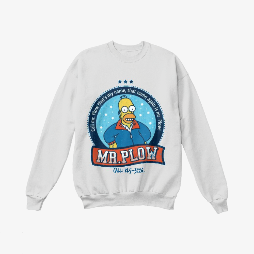 Call Mr Plow, The Simpsons Crewneck Sweatshirt