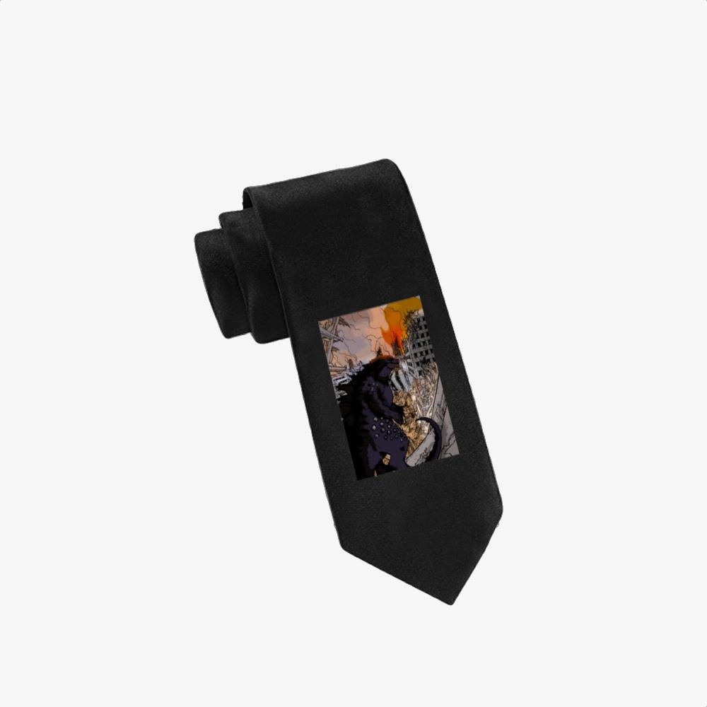 Destroying Your City In The Sunset, Godzilla Twill Silk Tie