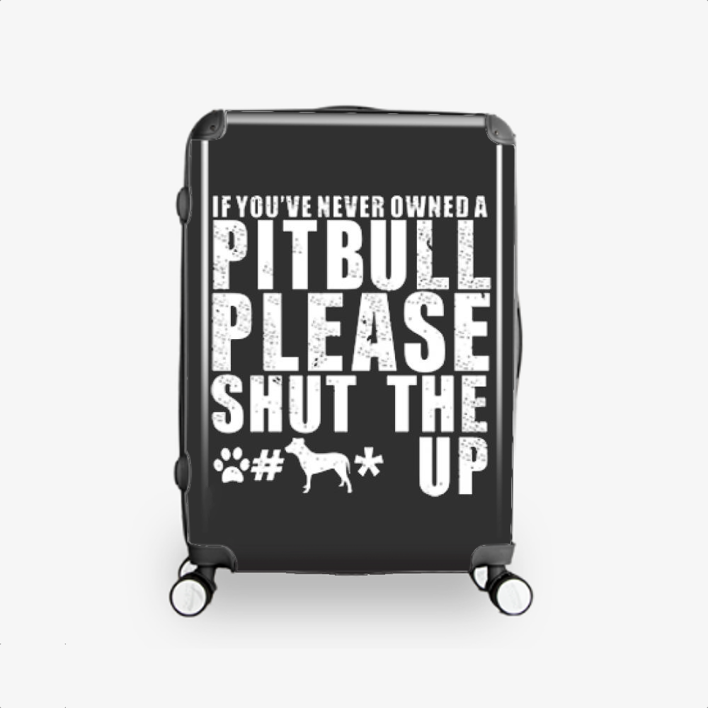 The Pitbull Never Owned A Pit Bull, Pitbull Hardside Luggage