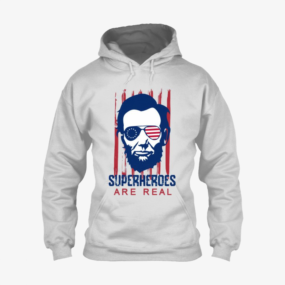 The Real Superhero, Abraham Lincoln Classic Hoodie