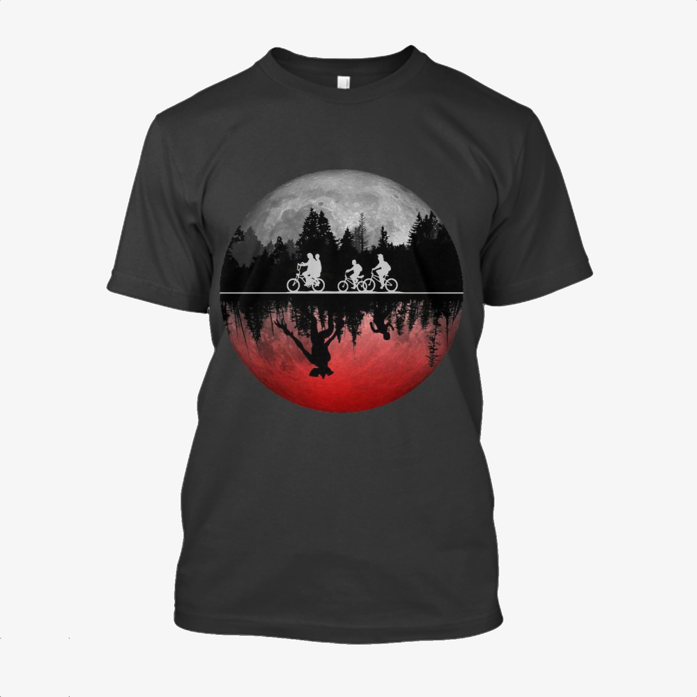 Stranger Things Illustrated Graphic, Horror Film Cotton T-Shirt