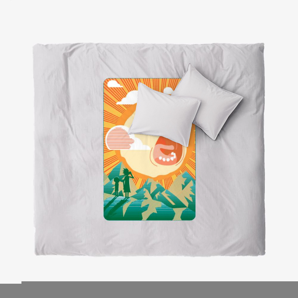 Rick And Morty Early Risin, Rick And Morty Duvet Cover Set