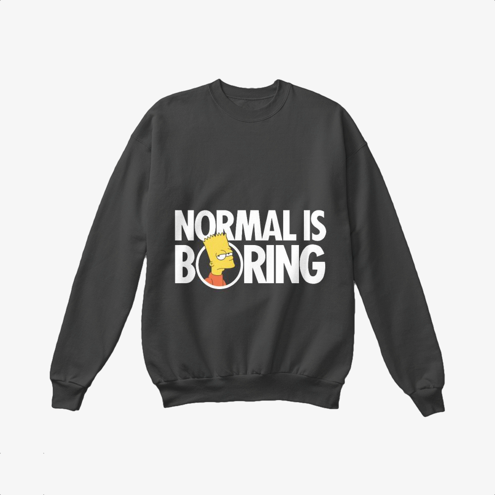Bart Simpsons Boring, The Simpsons Crewneck Sweatshirt