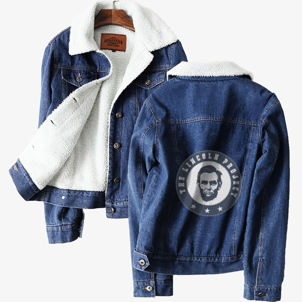 The Lincoln Project-1, Abraham Lincoln Classic Lined Denim Jacket