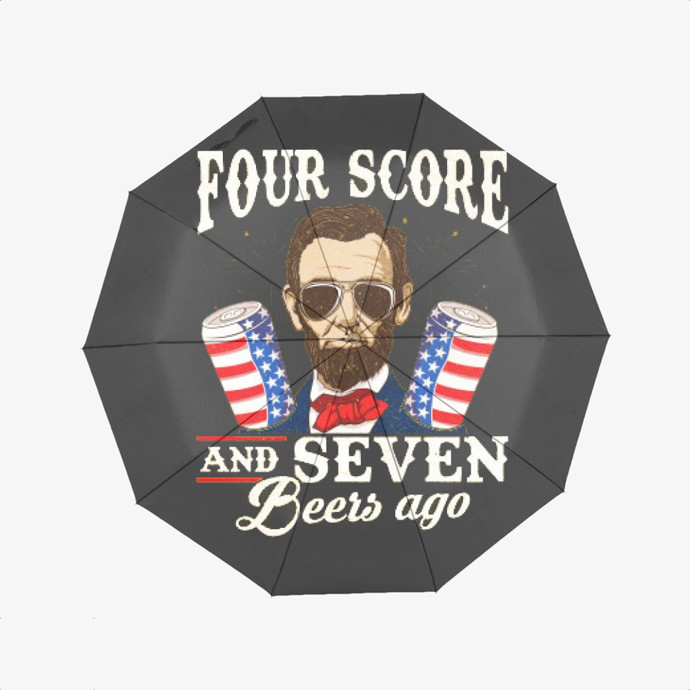 4th Of July, Abraham Lincoln Classic Umbrella