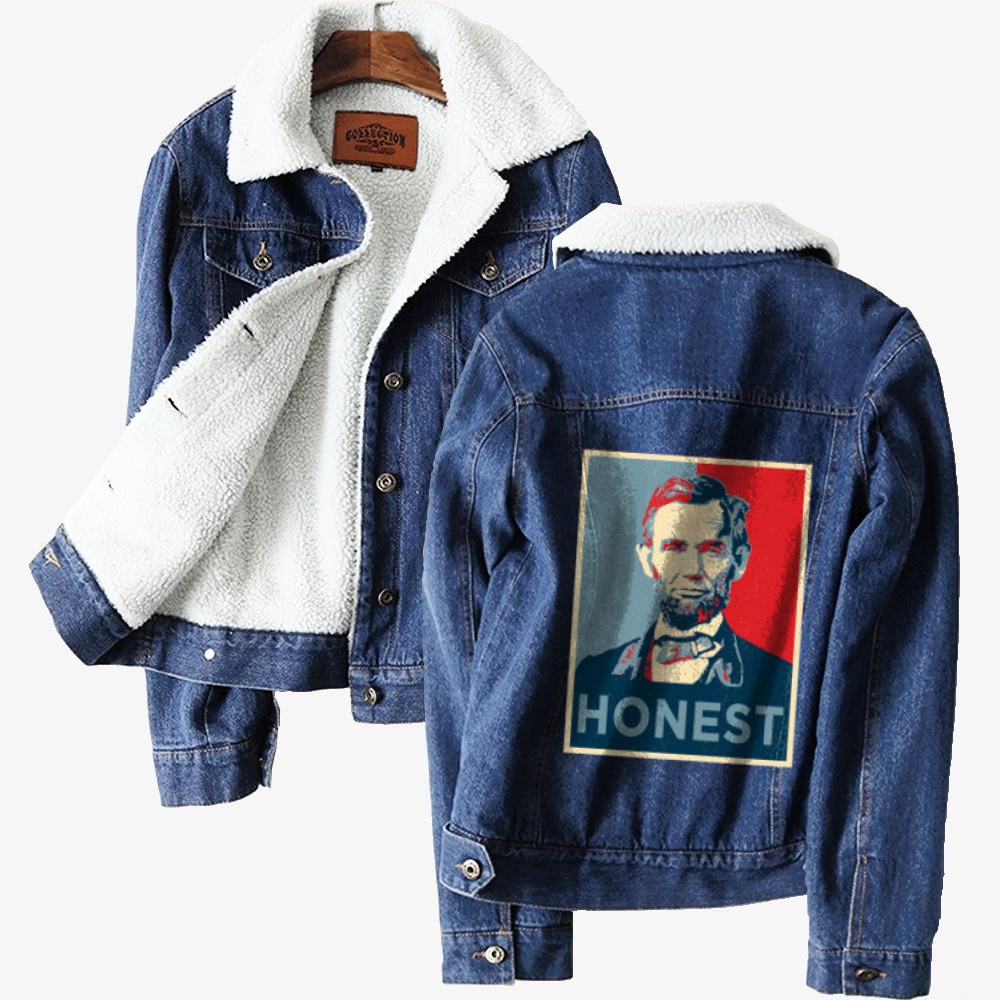 Honest Abe, Abraham Lincoln Classic Lined Denim Jacket