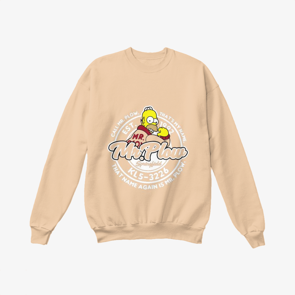 Mr Plow Kl5 3226, The Simpsons Crewneck Sweatshirt