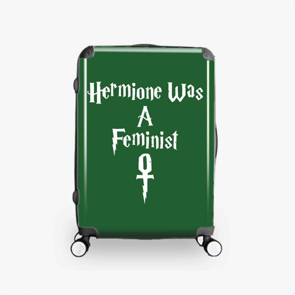 Hermione Was A Feminist, Harry Potter Hardside Luggage